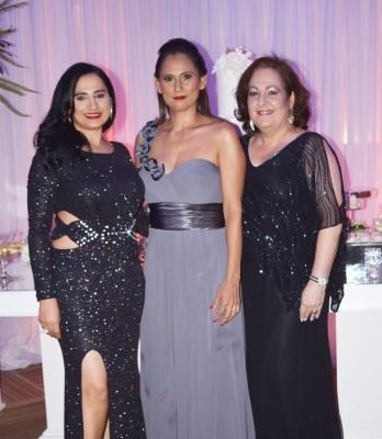 Rania Zayed, Mirna Gómez y Lilian Andonie