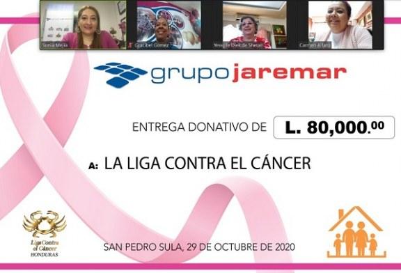 Grupo Jaremar entrega importante donativo de 80.000 lempiras a la Liga Contra el Cáncer