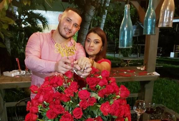 Romántica propuesta matrimonial de David Ruiz y Marjory Gonzáles
