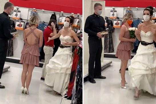 Llega vestida de novia y con un cura al trabajo de su pareja para obligarlo a que se case