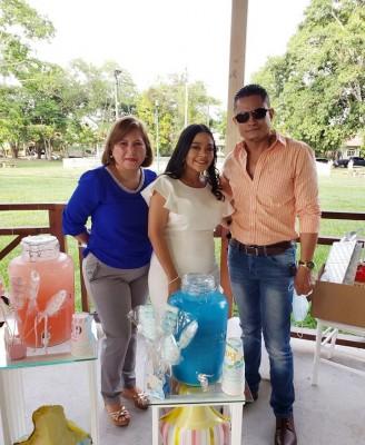 Sandra López, Gabriela Quevedo y Darío Cárcamo
