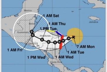 'Eta' ya es huracán categoría 3 y se intensificará a 4 en su avance a las costas de Nicaragua y Honduras