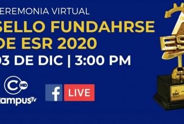 A través de ceremonia virtual FUNDAHRS resaltará la labor de 67 empresas y gremio socialmente responsable