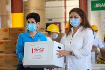 Fundaciones Coca-Cola y Cervecería Hondureña donan 12.590 raciones de alimentos para damnificados