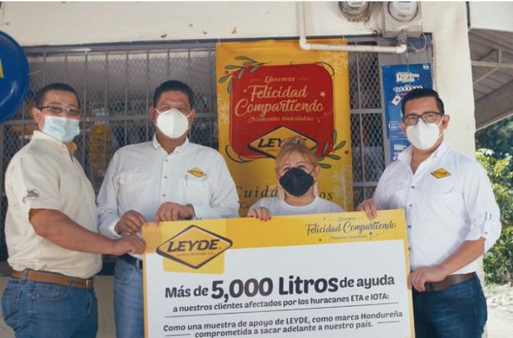 Leyde dona más de 5,000 litros de productos a pulperías y mercaditos de la zona norte para reiniciar sus negocios