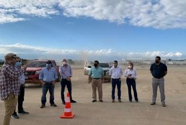 Empresarios conocen avances de trabajos para rehabilitar el aeropuerto Ramón Villeda Morales