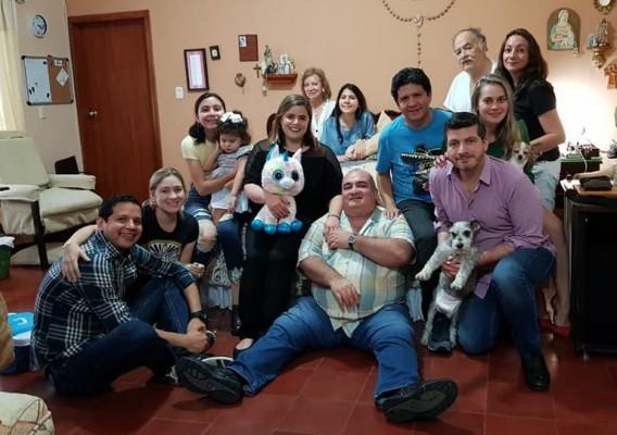 El Dr. Luis Tirso Boquin y familia