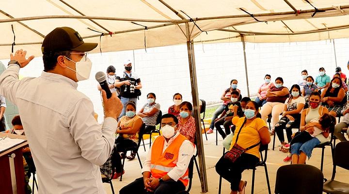Presidente Hernández inicia en Choloma pago de bono único de 5.000 lempiras a familias damnificadas por tormentas Iota y Eta