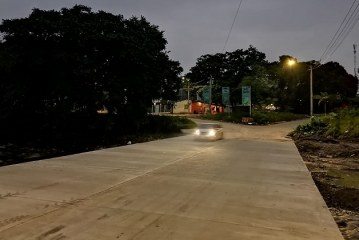 Municipalidad sampedrana habilita paso vehicular por el vado Colombia