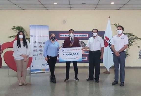 Grupo Jaremar nuevamente se solidariza con Teletón 2021 y entrega donativo por 1,000,000.00 de lempiras