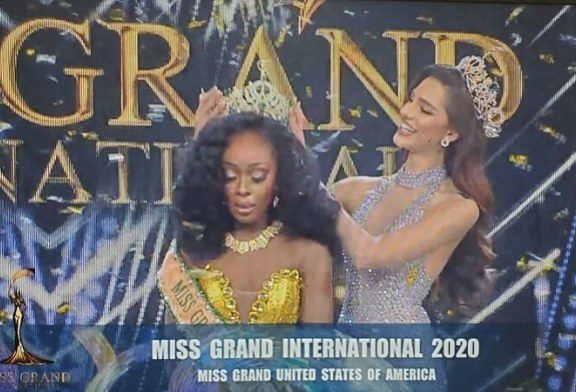 Miss Estados Unidos se desploma de emoción al ganar Miss Grand International