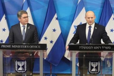 Primer ministro israelí recibe al presidente Hernández en su primera reunión con un mandatario visitante