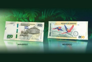 Banco Central de Honduras oficializa diseño del nuevo billete de 200 lempiras