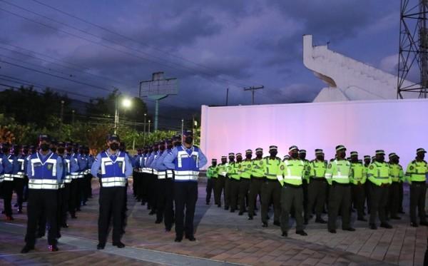 La Policía Nacional asignó 200 policías más a San Pedro Sula para reforzar la seguridad de la ciudadanía