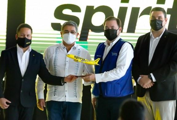 Spirit primera línea aérea que anuncia vuelos regulares desde Boston, Miami y Fort Lauderdale hacia el Aeropuerto de Palmerola