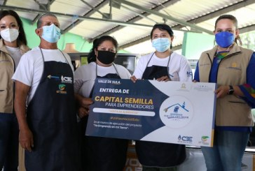 Migrantes retornados de San Pedro Sula son beneficiados por el Gobierno con capital semilla