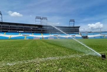 Modernizan sistema de riego en el Estadio Olímpico de San Pedro Sula