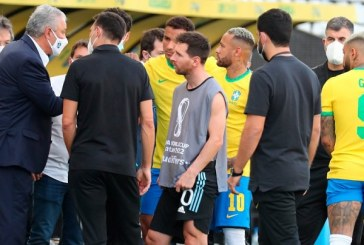Fue suspendió el clásico Brasil-Argentina por autoridades de salud para sacar a jugadores que violaron protocolos anticovid